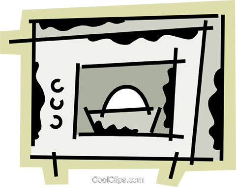 Microwave Oven Royalty Free Vector Clip Art illustration vc078182