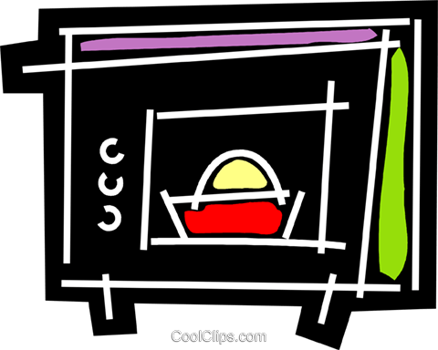 Microwave Oven Royalty Free Vector Clip Art illustration vc078184
