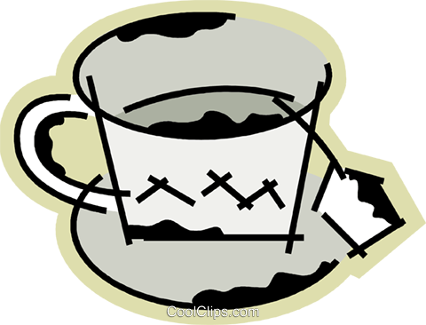 Teacups Royalty Free Vector Clip Art illustration vc078192
