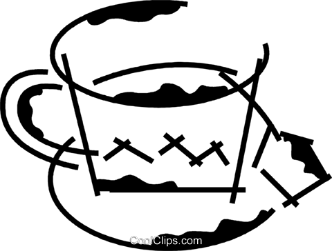 Teacups Royalty Free Vector Clip Art illustration vc078193