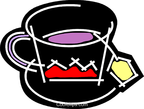 Teacups Royalty Free Vector Clip Art illustration vc078194
