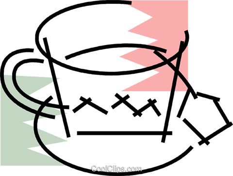 Teacups Royalty Free Vector Clip Art illustration vc078195