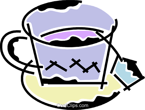 Teacups Royalty Free Vector Clip Art illustration vc078196