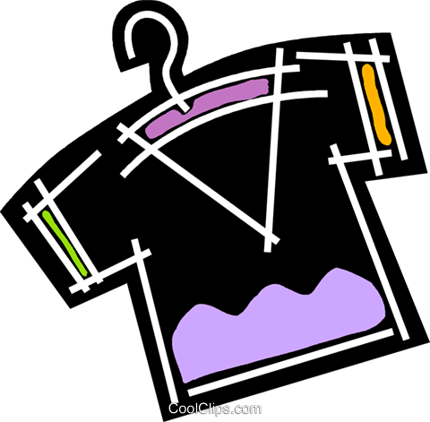Shirts Royalty Free Vector Clip Art illustration vc078199
