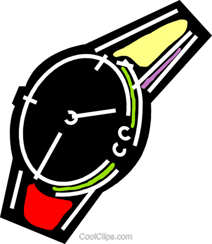Wristwatches Royalty Free Vector Clip Art illustration vc078204