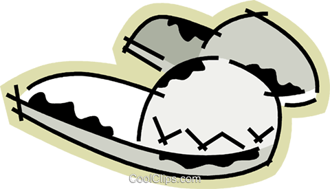 Slippers Royalty Free Vector Clip Art illustration vc078212