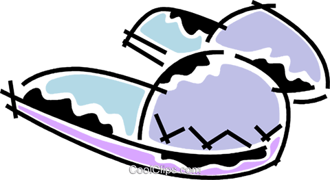 Slippers Royalty Free Vector Clip Art illustration vc078216