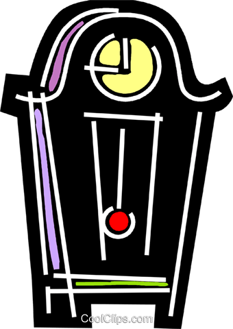 Grandfather Clocks Royalty Free Vector Clip Art illustration vc078234