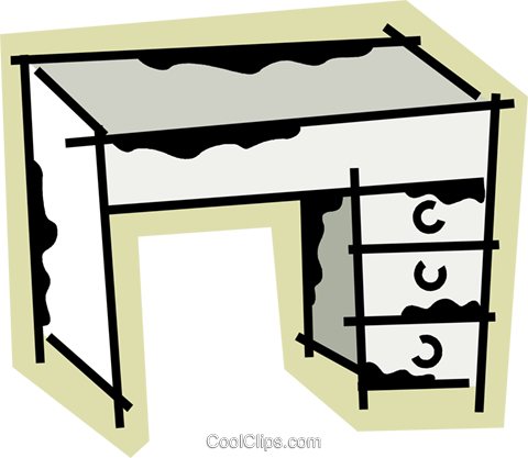 Work desks Royalty Free Vector Clip Art illustration vc078247
