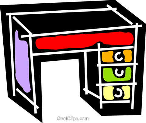 Work desks Royalty Free Vector Clip Art illustration vc078249