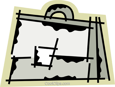 Briefcases Royalty Free Vector Clip Art illustration vc078257