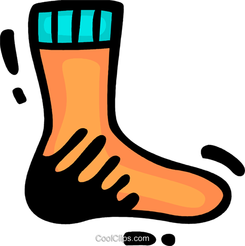 Socks Royalty Free Vector Clip Art illustration vc078290