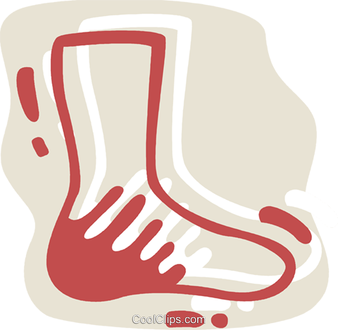 Socks Royalty Free Vector Clip Art illustration vc078292