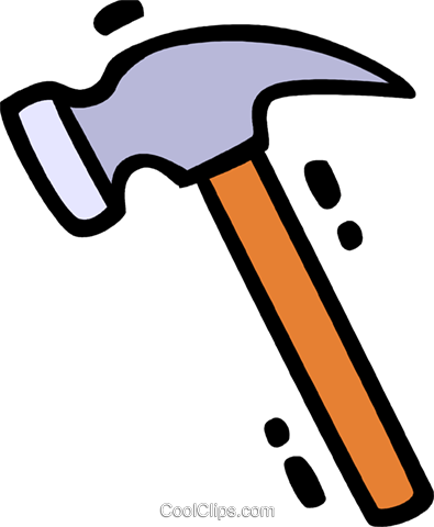 Hammers Royalty Free Vector Clip Art illustration vc078297