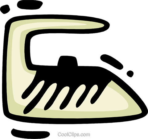Irons Ironing Royalty Free Vector Clip Art illustration vc078306