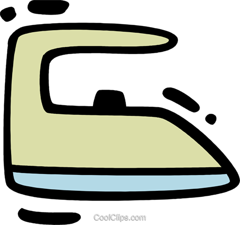 Irons Ironing Royalty Free Vector Clip Art illustration vc078309