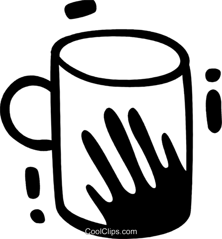 Cups of Coffee Royalty Free Vector Clip Art illustration vc078311