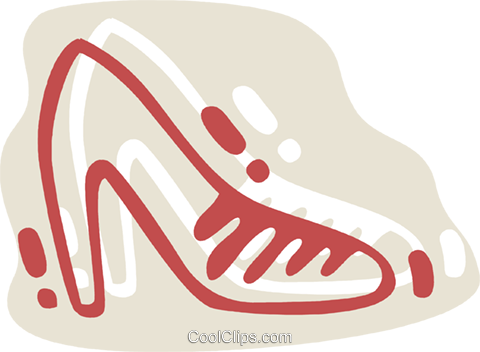 Dress Shoes Royalty Free Vector Clip Art illustration vc078320