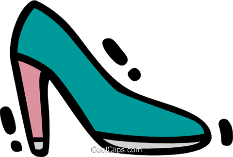 Dress Shoes Royalty Free Vector Clip Art illustration vc078321