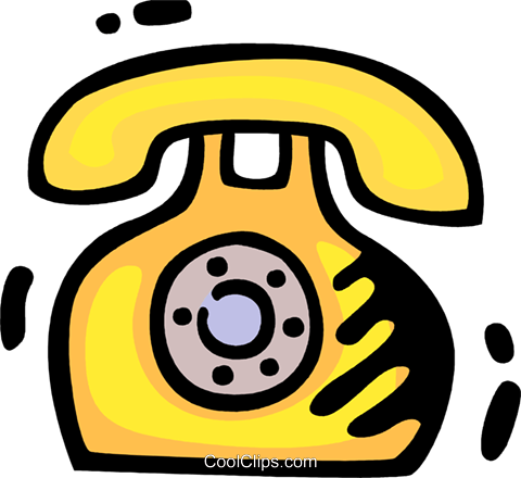 Home Phones Royalty Free Vector Clip Art illustration vc078326
