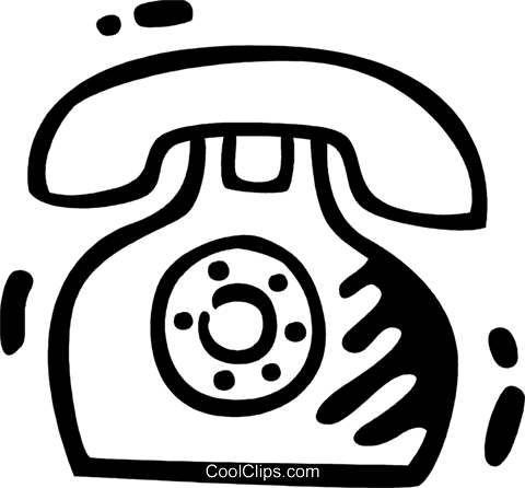 Home Phones Royalty Free Vector Clip Art illustration vc078327