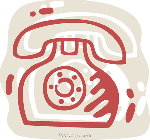Home Phones Royalty Free Vector Clip Art illustration vc078328
