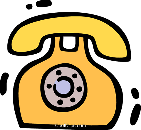 Home Phones Royalty Free Vector Clip Art illustration vc078329