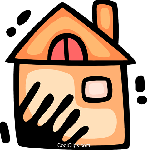 Urban Housing Royalty Free Vector Clip Art illustration vc078330