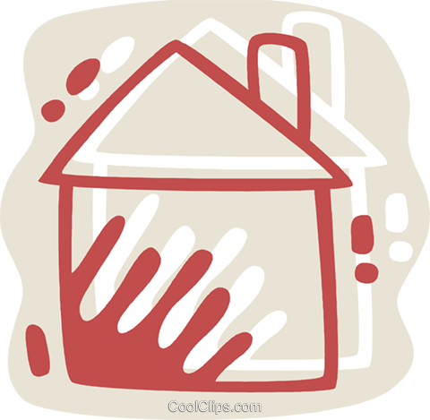 Urban Housing Royalty Free Vector Clip Art illustration vc078332