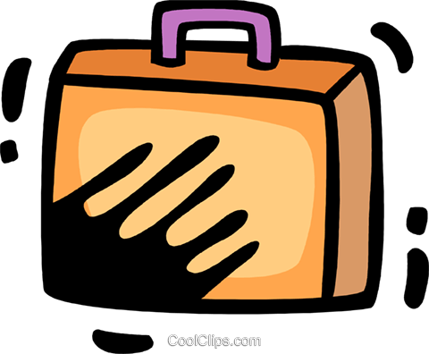 Luggage Royalty Free Vector Clip Art illustration vc078338