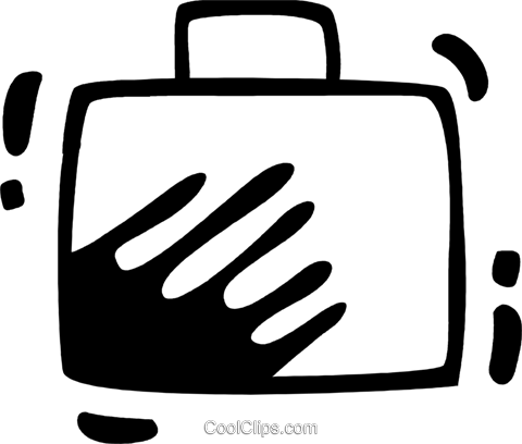 Luggage Royalty Free Vector Clip Art illustration vc078339