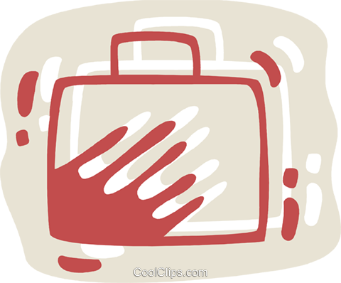 Luggage Royalty Free Vector Clip Art illustration vc078340
