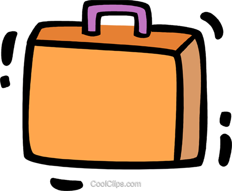 Luggage Royalty Free Vector Clip Art illustration vc078341