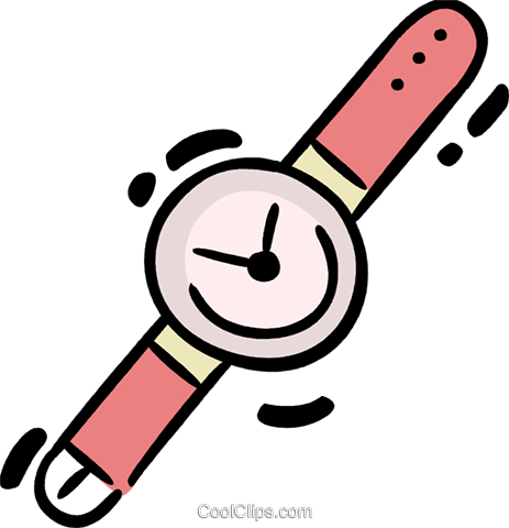 Wristwatches Royalty Free Vector Clip Art illustration vc078345