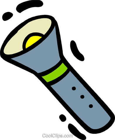 Flashlights Royalty Free Vector Clip Art illustration vc078349