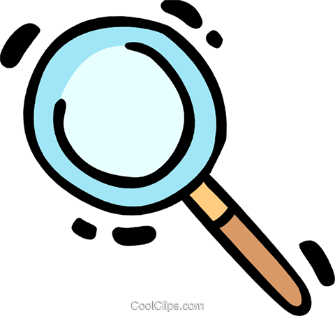 Magnifying Glasses Royalty Free Vector Clip Art illustration vc078357