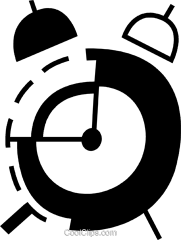 Alarm Clocks Royalty Free Vector Clip Art illustration vc078364