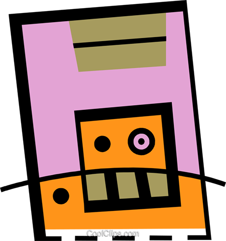 Diskettes Floppy Disks Royalty Free Vector Clip Art illustration vc078405
