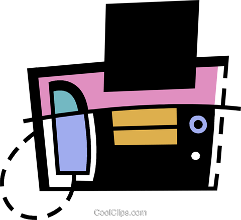 Fax Machines Royalty Free Vector Clip Art illustration vc078426