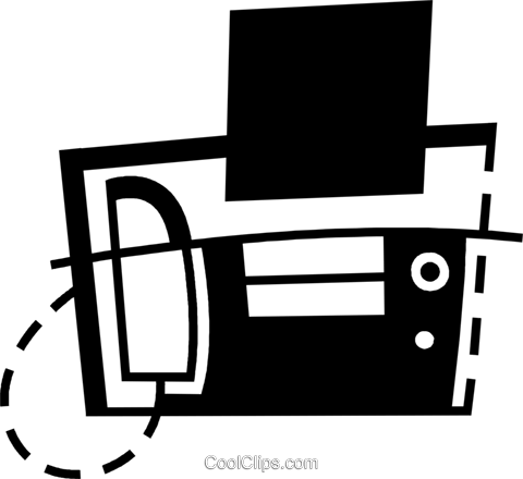 Fax Machines Royalty Free Vector Clip Art illustration vc078428