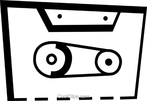 Cassette Tapes Royalty Free Vector Clip Art illustration vc078447