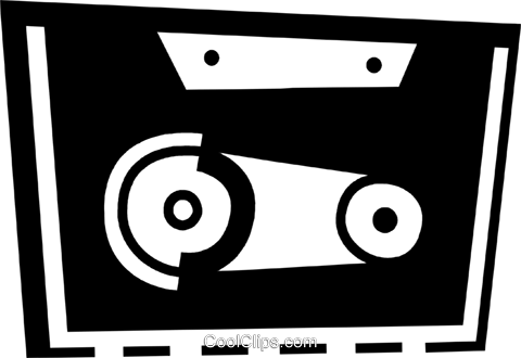 Cassette Tapes Royalty Free Vector Clip Art illustration vc078448