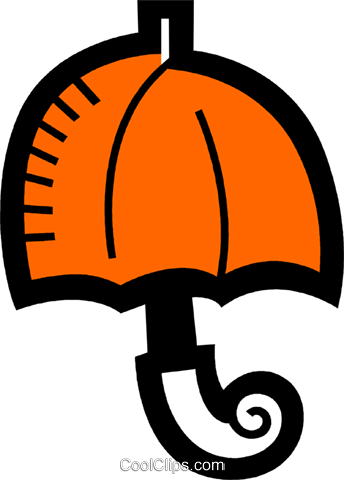 Umbrellas Royalty Free Vector Clip Art illustration vc078480