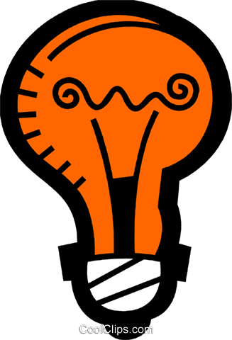 Light bulbs Royalty Free Vector Clip Art illustration vc078492