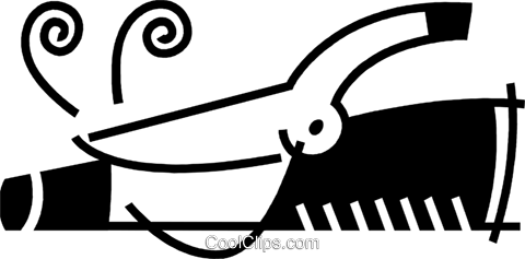 Curling Irons Royalty Free Vector Clip Art illustration vc078524