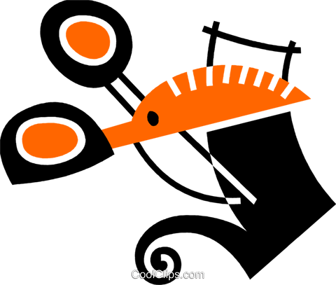 Scissors Royalty Free Vector Clip Art illustration vc078532