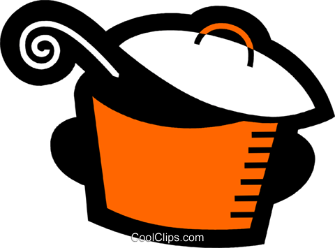 Pots and Pans Royalty Free Vector Clip Art illustration vc078534