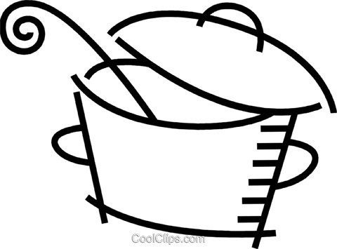 Pots and Pans Royalty Free Vector Clip Art illustration vc078535