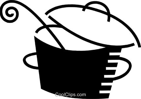 Pots and Pans Royalty Free Vector Clip Art illustration vc078536
