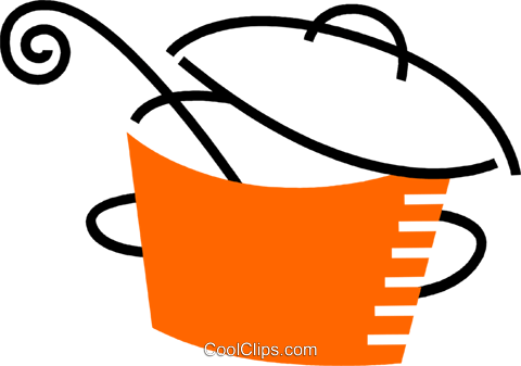 Pots and Pans Royalty Free Vector Clip Art illustration vc078538